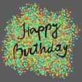 Festive happy birthday Royalty Free Stock Photo
