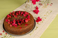 Festive honey cake with flowers traditional decorated Royalty Free Stock Photography