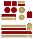 Festive icons and labels Royalty Free Stock Images