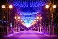 Festive Illumination On Street...