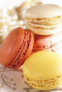 Festive macarons, colorful Royalty Free Stock Photos