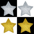 Festive Metallic Stars Royalty Free Stock Image