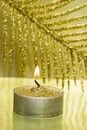 Festive new-year candle Stock Images