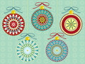 Festive Ornaments Stock Image