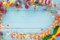 Festive party border or frame Royalty Free Stock Photo