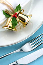 Festive place setting Royalty Free Stock Photo