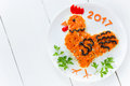 Festive Salad Shaped Rooster O...