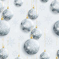 Festive seamless pattern with Christmas balls Royalty Free Stock Photo