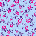 Festive seamless pattern with roses a Stock Photos