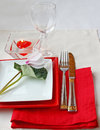 Festive serving of table Royalty Free Stock Images