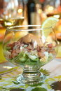 Festive shrimp salad Royalty Free Stock Photography