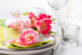 Festive spring table setting Stock Photography