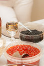 A festive table with caviar Royalty Free Stock Photo
