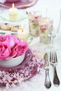 Festive table setting Royalty Free Stock Photo