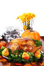 Festive Thanksgiving Dinner Royalty Free Stock Images