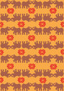 Festive typical indian elephant orange background Stock Photography