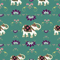 Festive typical indian elephant pattern Royalty Free Stock Photos