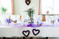 Festive Wedding Table Royalty Free Stock Photos