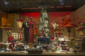 Festive window dressing in department store for Christmas.