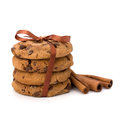 Festive wrapped chocolate pastry biscuits isolated on white background Royalty Free Stock Photography