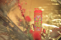 Festivity of chinese new year decorated with characters Royalty Free Stock Image