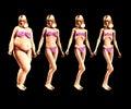 Fett som gör 5 tunnare Royaltyfri Bild