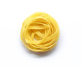 Fettuccine italian pasta isolated on white background Royalty Free Stock Photo