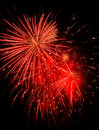 Feu d'artifice rouge Photographie stock