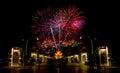 Feuerwerks feier Stockfoto