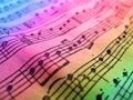Feuille de musique colorée Photographie stock libre de droits