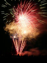 Feux d'artifice dans Barkingside Image libre de droits