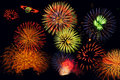 Feux d'artifice exceptionnels Photo libre de droits
