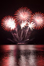 Feux d'artifice rouges Image libre de droits