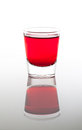 A few glasses of drinks in red Royalty Free Stock Photo