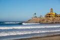 Few people enjoying the early day in Todos Santos beach in Baja California, Mexico Royalty Free Stock Photo