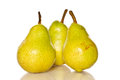 Few ripe pears on a white background Royalty Free Stock Images