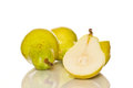 Few ripe pears white background Royalty Free Stock Photography
