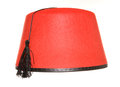 Fez hat on a white background Royalty Free Stock Photography