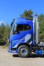 Fh volvo ocean race limited edition truck raasepori finland september trucks have the sphlash element on the cab sides Royalty Free Stock Image