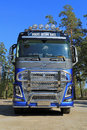 Fh volvo ocean race limited edition truck raasepori finland september trucks introduces the in a specially designed version Royalty Free Stock Photos