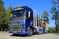 Fh volvo ocean race limited edition truck for timber haul raasepori finland september trucks introduces the in a specially Royalty Free Stock Photo