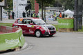 Fia world rally championship france super special stage strasbourg october frederic zanzi of compete in suzuki swift sport during Royalty Free Stock Image