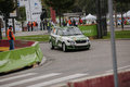 Fia world rally championship france super special stage strasbourg october jonathan fritsch of compete in skoda fabia r during of Stock Image