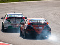 Fia wtcc racing cars photographed during event at slovakia ring on april Stock Photo