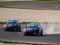 Fia wtcc racing cars photographed during event at slovakia ring on april Stock Photos