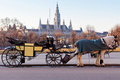 Fiaker carriage in Vienna, Austria Stock Photo