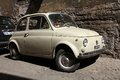 Fiat 500 in Rome Royalty Free Stock Photography