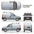 Fiat Doblo Cargo SWB 2015 Royalty Free Stock Photo