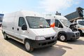 Fiat ducato ufa russia may commercial vans at the city street Royalty Free Stock Image