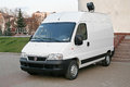 Fiat ducato ufa russia october white cargo van at the city street Stock Photo